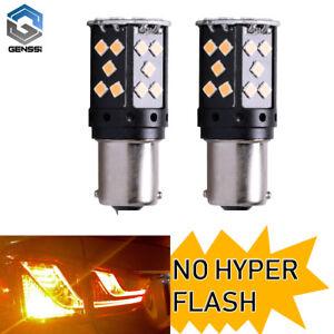 GENSSI-1156-BA15S-Amber-3000K-Rear-Turn-Signal-Blinker-Corner-LED-Light-Bulbs