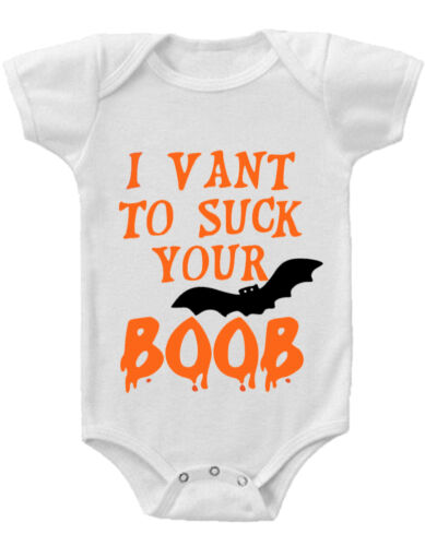 I VANT TO SUCK YOUR BOOB Gerber® Onesie® FUNNY Baby Shower Gift INFANT T-SHIRT