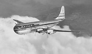 """United Air Lines Boeing 377 Stratocruiser ((16.5""""x20"""")) Print"""