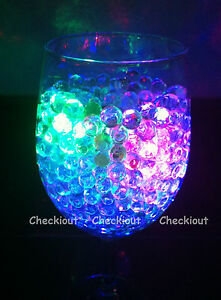 Image Is Loading Water Pearl Bead LED Light Wedding Floral Decor
