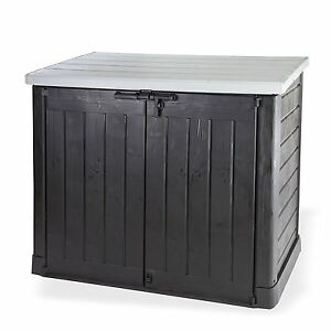 keter store it out max xl grey lid plastic garden shed. Black Bedroom Furniture Sets. Home Design Ideas