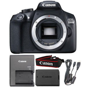 Details about Canon EOS 1300D 18MP Digital SLR Camera Body (Black)