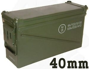 FREE SHIPPING* MILITARY 40MM BA30 PA120 AMMO CAN VERY GOOD CONDITION
