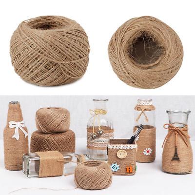 100M 1mm DIY Jute Cord Burlap Rope Twist Hemp Natural Linen Twine Craft String