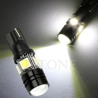 XENON White T10 W5W 1.5W 5050 SMD 4-LED Wedge Light Lamp Bulb 12V