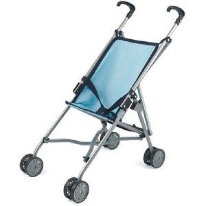 Dolls-World-Blue-Stroller-Buggy-Folding-Pushchair-Baby-Doll-pram-Girl-Boys-Toys