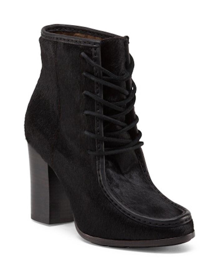 FRYE Parker Moc Ankle Haircalf Haircalf Haircalf Leather Boots Booties Black NIB Sz 6 b8872c