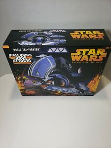 New Hasbro Star Wars Revenge Of The Sith Buzz Droid With Titanium Tie Fighter!