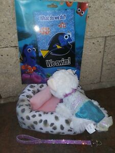 Justice-Plush-Pet-Shop-Cat-Lola-Sequin-Mermaid-Outfit-Bed-Scratch-Off-Craft-LOT