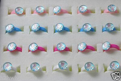 Adjustable Frozen Elsa Olaf Girls Rings,Party Bag Fillers,Childrens Jewellery UK