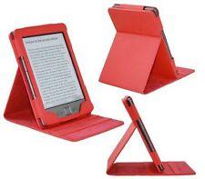 Amazon Kindle 4 De Lujo luxfolio Pu Cuero Doble Flip Stand Funda Protectora-Rojo