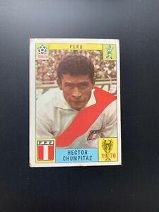 PERU - HECTOR CHUMPITAZ - UNUSED PANINI MEXICO 70 WORLD CUP RED/BLACK CARD 1970