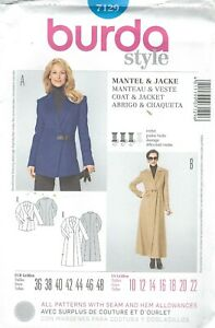 burda-7129-Misses-039-Coat-and-Jacket-10-to-22-Sewing-Pattern
