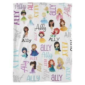 Personalised Princess Baby Fleece Blanket *Ally* Brand New in Packaging