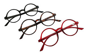 Round-Frame-Classic-Retro-Reading-Glasses-1950s60s-Spring-Hinges-3-Colours-RG3
