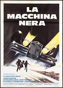 LA MACCHINA NERA MANIFESTO CINEMA HORROR USA 1976 WHEELS THE CAR MOVIE POSTER 2F