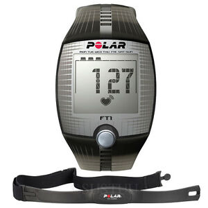 Black-Polar-FT1-Heart-Rate-Monitor-Sports-Health-Body-Watch-with-Chest-Strap