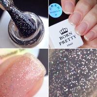 Glitter Gel Nail Polish Soak Off UV LED Platinum Shimmer Shiny Manicure Salon