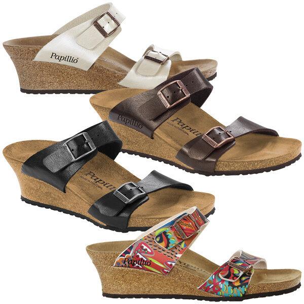 Birkenstock Papillio Dorothy Birko-flor cuña zapatos apartado sandalia sandalia