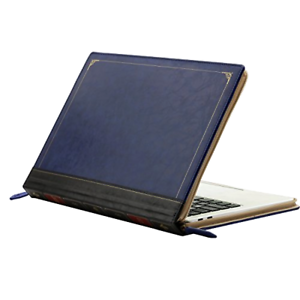 """MacBook Pro 15 15/"""" 2019//16 Touch Bar A1990 A1707 Leather Sleeve Book Case Bag"""