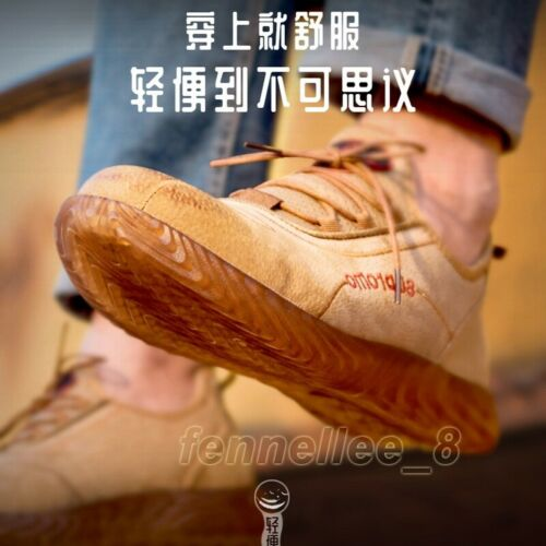 Men Steel Toe Safety Shoes Prevent Puncture Ultralight Welding Casual Work Boots