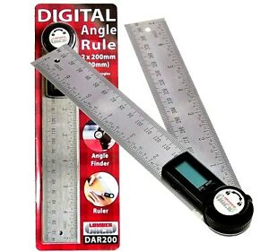 Digital-LCD-Angle-Finder-Stainless-Steel-Rule-Trend-400mm-Ruler-360-Degree-Gauge