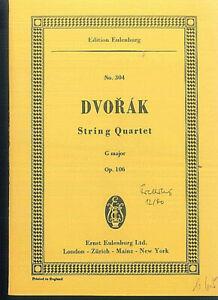 DVORAK-String-Quartet-G-Dur-Op-106-Studienpartitur