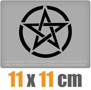 Pentagramm-11-x-11-cm-JDM-Decal-Sticker-Auto-Car-Weis-Scheibenaufkleber