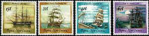 1988-PAPUA-NEW-GUINEA-Ships-II-4-MNH