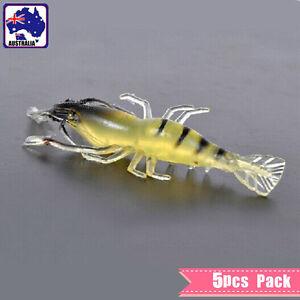 5x Bait Soft Plastic Yabbie Prawn Shrimp Fishing Lure 7CM Tackle OFISP0701x5