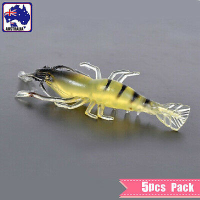 5x Bait Soft Plastic Yabbie Prawn Shrimp Fishing Lure 7CM Tackle OFISP0701x5