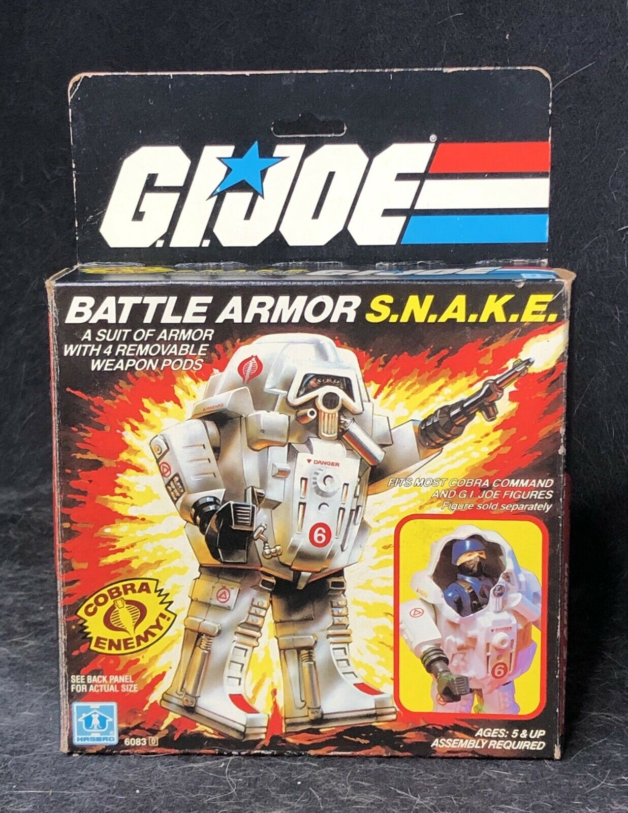 VTG 1983 GI Joe Battle Armor SNAKE