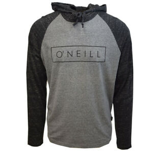 O-039-Neill-Men-039-s-Classic-Charcoal-Gray-Lightweight-L-S-Pullover-Hoodie