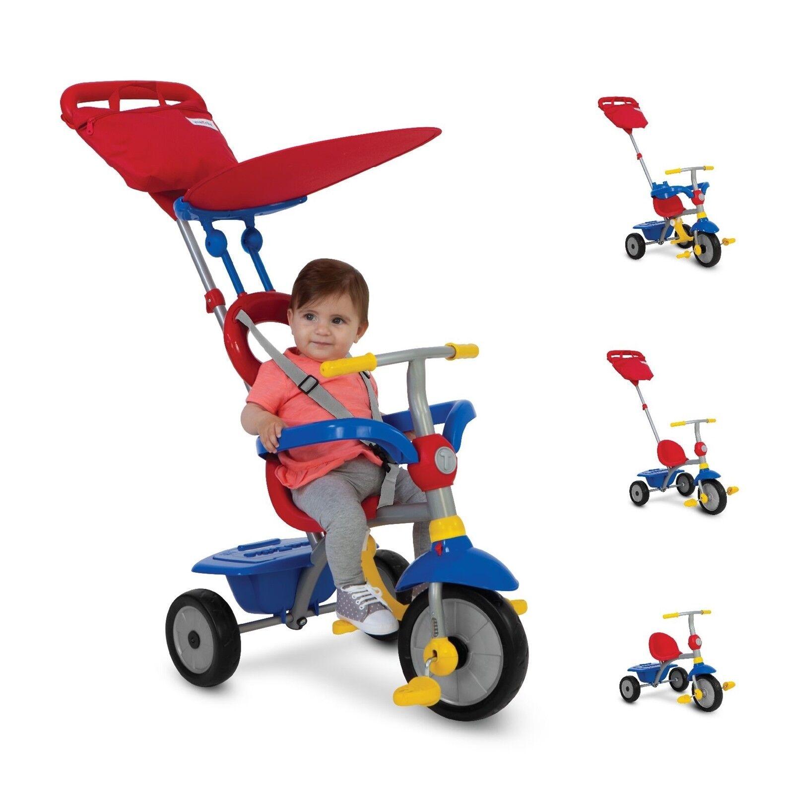 SmarTrike Zip Plus Dreirad Dreirädchen 4 in 1 Dreirädchen Dreirad Rot-Blau-Gelb 0eab83