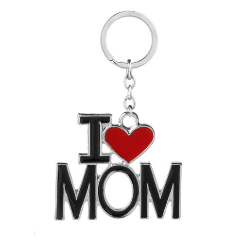 Red Love Heart Fathers Mothers Day Birthday Gift Keyring Keychain Mom Dad Family
