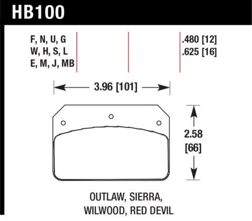 Hawk Performance HB100J.480 DR-97 Compound Disc Brake Pads