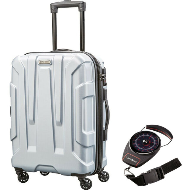 1238c9d9d Samsonite Centric Hardside 20 Luggage Lightweight Scratch Resistant Silver