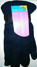 One Size Winter Essentials Ladies Polar Fleece Gloves in Navy