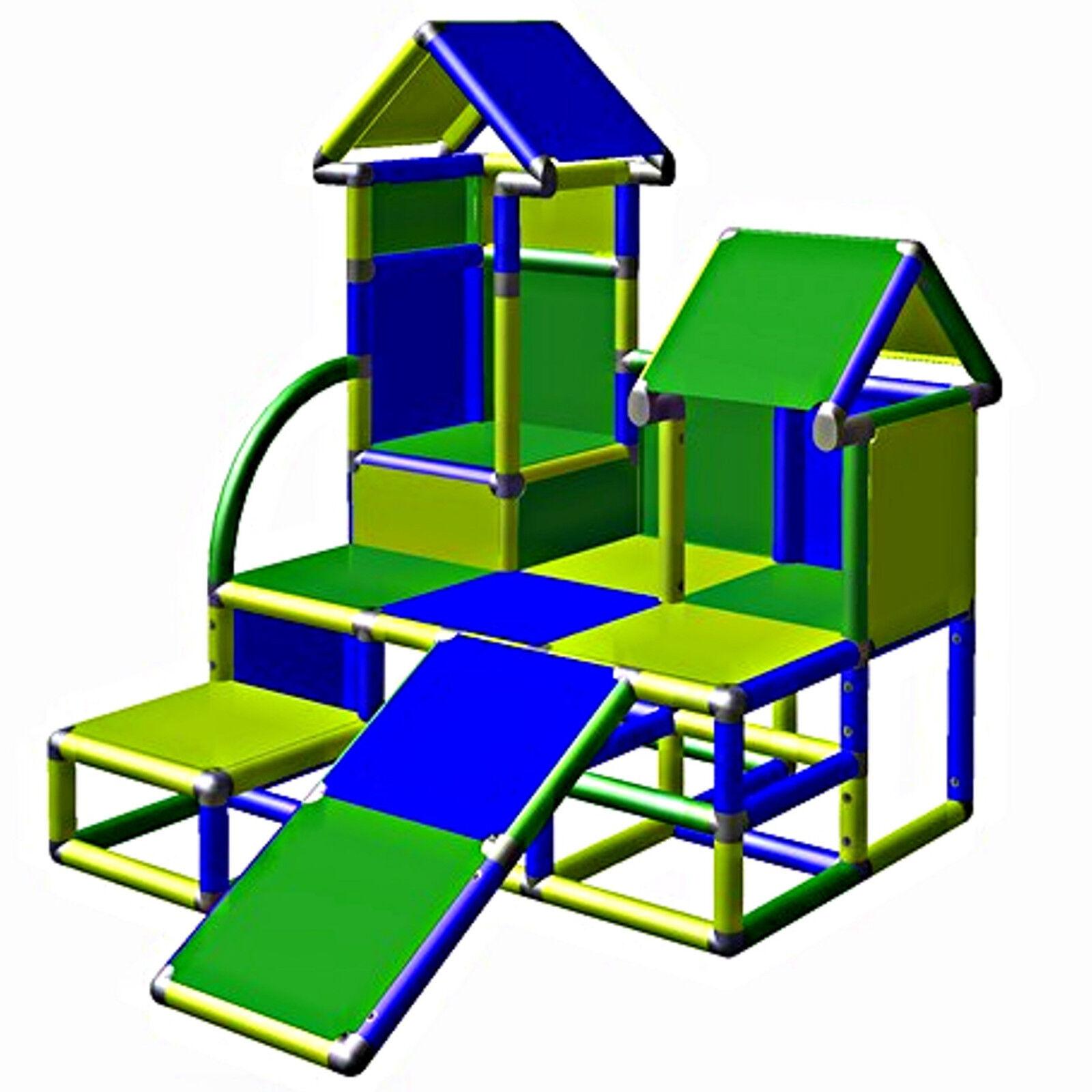 Moveandstic Luise Kletterturm Spielturm Baukasten Klettergerüst Spielgerüst blau