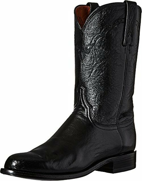 Lucchese Classics M1010.C2 Mens Lawrence-Blk Lawrence-Blk Lawrence-Blk Lonestar Calf Roper Riding Stiefel 81d912