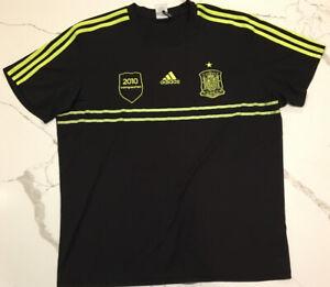 Aflojar rock Violar  Spain 2010 World Cup Soccer Jersey Adidas 2010 Campeones XL Football Top |  eBay