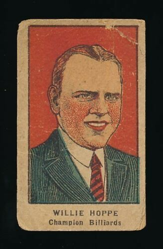 1921 W551 Athletes Strip Cards #NNO WILLIE HOPPE Billiard Champion