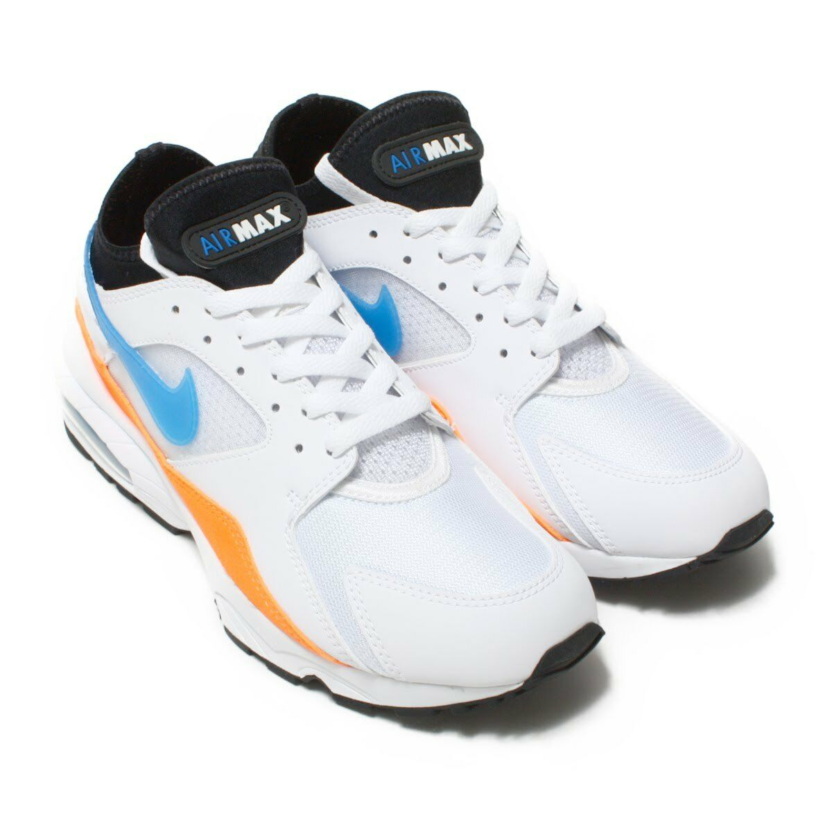 Nike Air Max '93 orange blueeE WHITE US MENS SIZES 306551-104