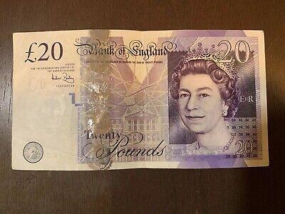 Cir Great Britain Pound BRITISH £20 POUNDS Single Banknote England