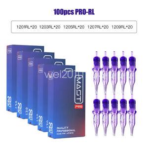 DRAGONHAWK MAST-PRO Tattoo Needles 100x Disposable Sterilized Round LinersE