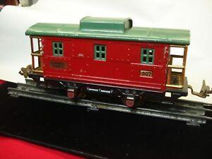 LIONEL-PREWAR-807-CABOOSE-1927-34-NICE-4-WHEEL-CAR-TAKE-A-LOOK