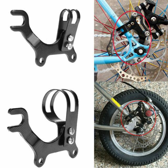 Adjustable Bicycle Bike Disc Brake Bracket Frame Adaptor Mounting Holder Black