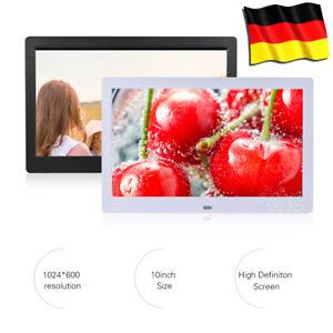 10 Zoll HD IPS Digitaler Bilderrahmen Elektronische Albumuhr+Fernb
