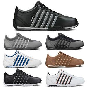 K-Swiss-Arvee-1-5-Leder-Sneaker-Herren-Damen-Sportschuhe-5-Streifen-Low-Cut-Neu