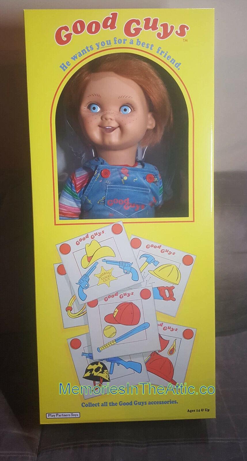 Child/'s Play 2 Chucky Good Guy Badge Pin Brooch /& Plastic Bag